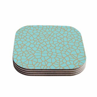 Trebam 'Staklo III' Blue Brown Coasters (Set of 4)