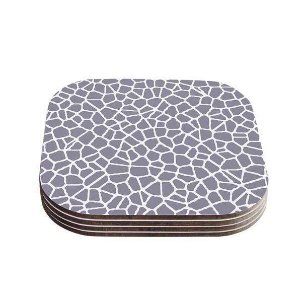 Trebam 'Staklo II' Gray White Coasters (Set of 4)