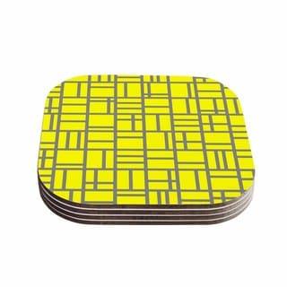Trebam 'Kutije V.4' Yellow Gray Coasters (Set of 4)
