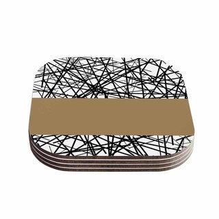 Trebam 'Kava' Modern Black Coasters (Set of 4)