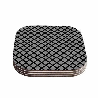 Trebam 'Dijamanti' Black Gray Coasters (Set of 4)