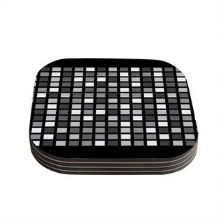 Trebam 'Plocica' Gray Grid Coasters (Set of 4)