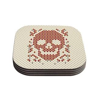 Tobe Fonseca 'Deforestation' Skull Illustration Coasters (Set of 4)