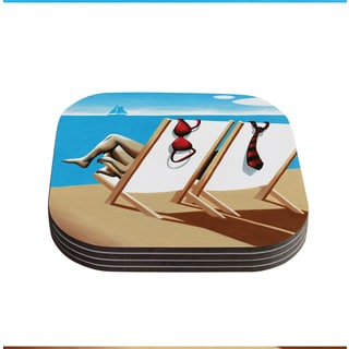Thomas Fuchs 'Vacation' Beach Coasters (Set of 4)