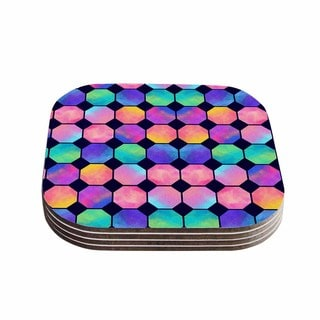 Noonday Design 'Colorful Watercolor Octagons' Watercolor Abstract Coasters (Set of 4)
