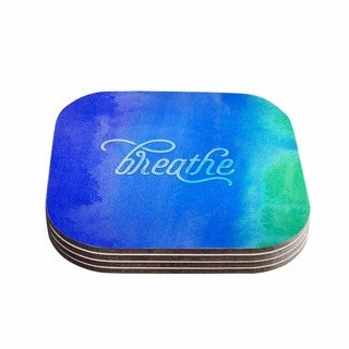 Noonday Design 'Breathe' Blue Green Coasters (Set of 4)
