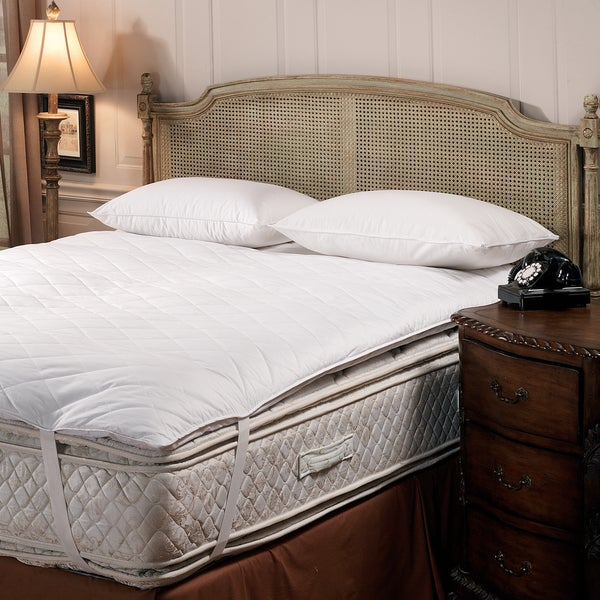 Luxury Hypoallergenic Quilted Feather Bed with Anchor Straps