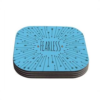 Skye Zambrana 'Fearless' Coasters (Set of 4)