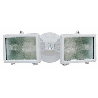 Heathco HZ-5502-WH 150 Watt White Twin Halogen Flood Light
