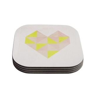 Skye Zambrana 'Geo Heart' Coasters (Set of 4)
