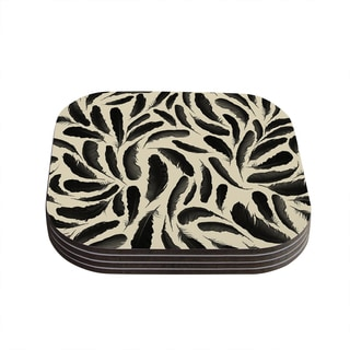 Skye Zambrana 'Feather Pattern' Coasters (Set of 4)