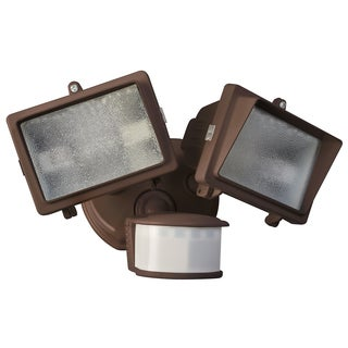 Woods L6008BR Bronze 300 Watt Twin Halogen Flood Light