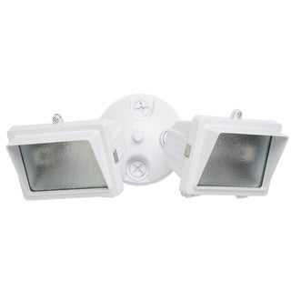 Designers Edge L57WH 300 Watt White Mini Halogen Double Flood Light