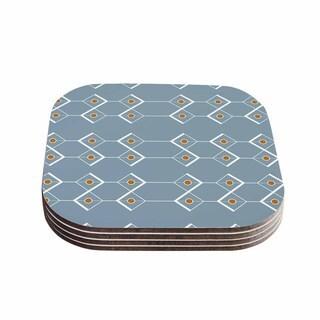 Stephanie Vaeth 'Diamonds' Blue Modern Coasters (Set of 4)