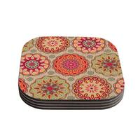 Suzie Tremel 'Festival Folklore' Vintage Floral Coasters (Set of 4)