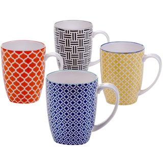 Certified International Mix & Match Chelsea Mugs (Set of 4)