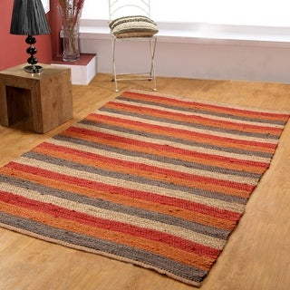 Hand-woven Jute Area Rug (8' x 10')
