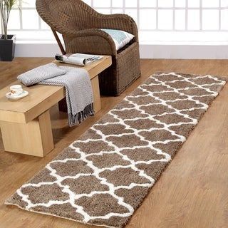 Casa Platino Soft Cozy Ultimate Shag Simply Taupe Rug (2'3 x 8')