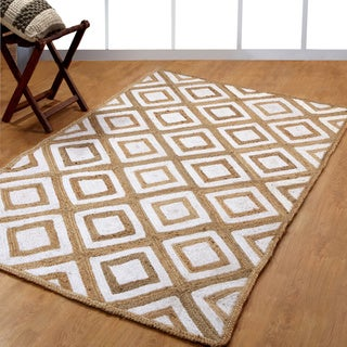 Hand-woven Braided Natural Fiber Jute and Cotton Area Rug (8' x 10')
