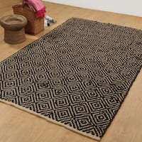 Eco-natural/ Dyed Jute Handwoven Area Rug - 8' x 10'