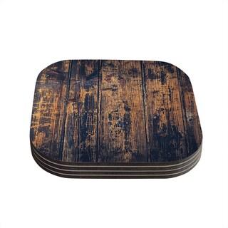 Susan Sanders 'Barn Floor' Rustic Coasters (Set of 4)