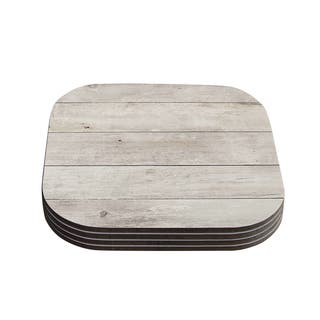Susan Sanders 'White Wash Wood' Beige White Coasters (Set of 4)|https://ak1.ostkcdn.com/images/products/11777566/P18689259.jpg?impolicy=medium