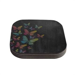 Snap Studio 'Butterflies' Pastel Chalk Coasters (Set of 4)