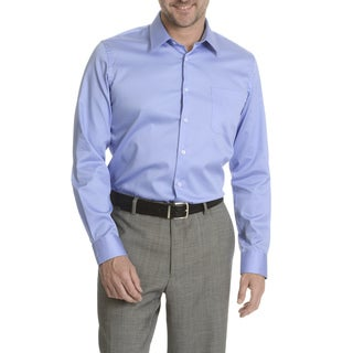Daniel Hechter Men's Satin Finished Slim Fit Dress Shirt