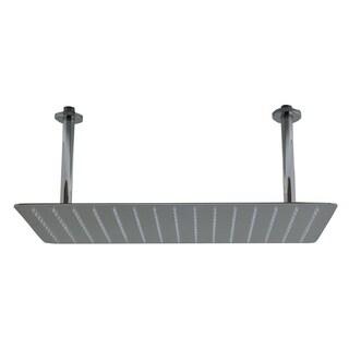 ALFI brand 20-inch Rectangular Brushed Stainless Steel Ultra Thin Rain Shower Head