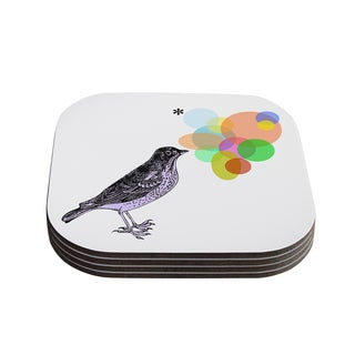 Sreetama Ray 'Candy Birds' Geometry Bird Coasters (Set of 4)