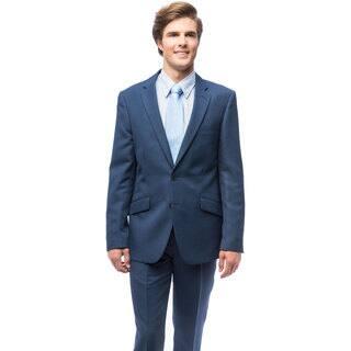 Men's Blue Slim Fit Suit|https://ak1.ostkcdn.com/images/products/11777681/P18689550.jpg?impolicy=medium