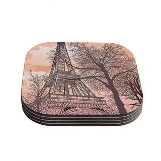 Sam Posnick 'Eiffel Tower' Coasters (Set of 4)
