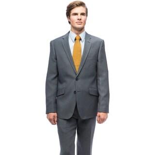Men's Slim-fit Grey Two-piece Suit