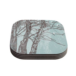 Sam Posnick 'Winter Trees' Coasters (Set of 4)