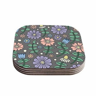 Sarah Oelerich 'Early Spring' Pastel Floral Coasters (Set of 4)
