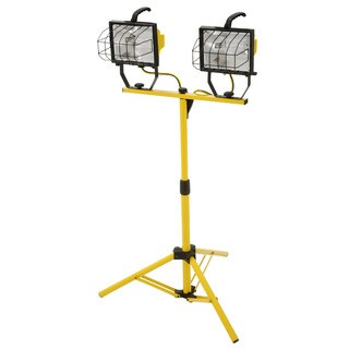 Designers Edge L13 Two 500 Watt Portable Halogen Work Light