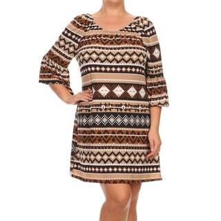 MOA Collection Aztec Border Plus-size Dress