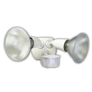 Coleman Cable L6003WH 180° Twin Head Motion Activated Security Flood Light