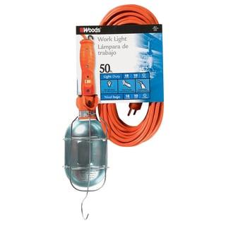 Coleman Cable 00682 75 Watt 50' 18/3 Gauge Orange SJTW Trouble Light