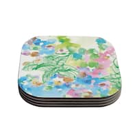 Sonal Nathwani 'Leaf Bouquet' Coasters (Set of 4)