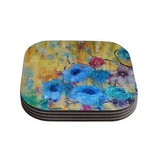 Sonal Nathwani 'Cosmic Love Garden' Coasters (Set of 4)