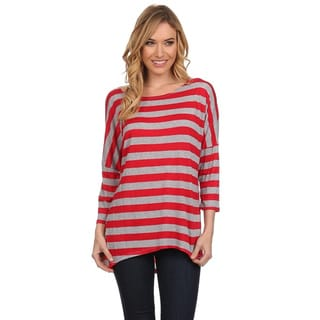 MOA Collection Women's Long-sleeve Striped Shirt