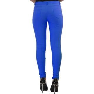 Dinamit Women's Form Fitting Faux Pocket Pants