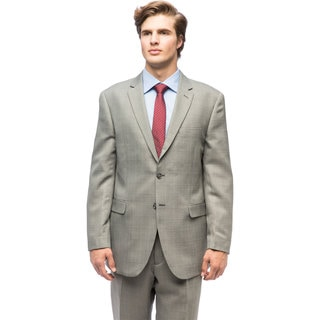 Men's Plaid Polyester/Viscose Single Breasted Suit