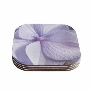 Suzanne Harford 'Pastel Purple Hydrangea Flower' Floral Lavender Coasters (Set of 4)