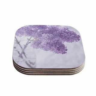 Suzanne Harford 'Lilacs' Purple Floral Coasters (Set of 4)