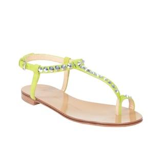 Giuseppe Zanotti Women's Green Flat Sandals