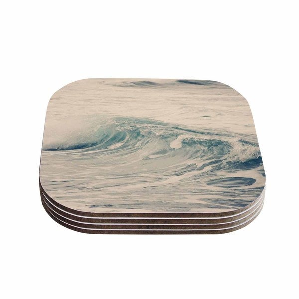 Sylvia Coomes 'Waves 1' Blue Coastal Coasters (Set of 4)