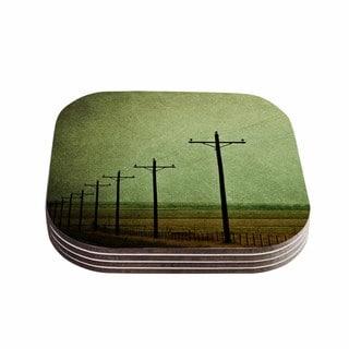 Sylvia Coomes 'Electric ' Green Digital Coasters (Set of 4)