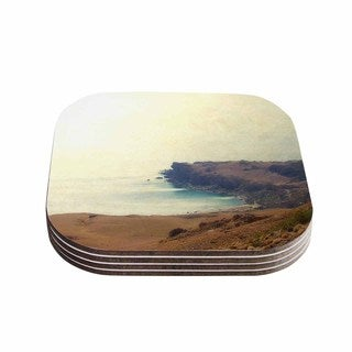 Sylvia Coomes 'Sea Dream ' Yellow Coastal Coasters (Set of 4)